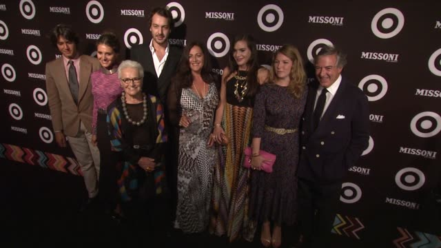 vídeos de stock, filmes e b-roll de missoni family at the missoni for target private launch event at new york ny - missoni