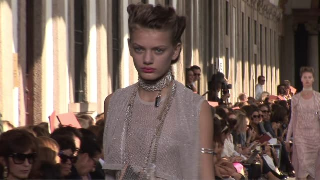 missoni milan fashion week s/s 2010 - missoni stock videos & royalty-free footage