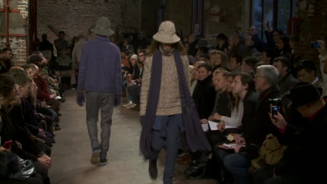 milan men's fashion week a/w 2011 on january 16 2011 in milan italy - missoni stock videos & royalty-free footage