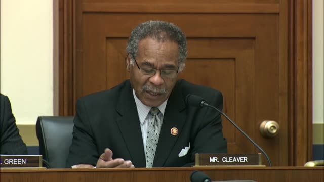 missouri congressman emanuel cleaver tells treasury secretary steve mnuchin at a house financial services committee hearing that he may not want to... - dominanz stock-videos und b-roll-filmmaterial