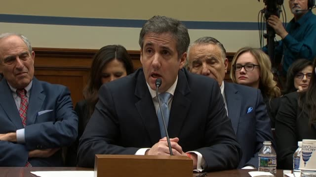 Missouri Congressman William Lacy Clay asks former personal attorney to Donald Trump Michael Cohen at a House oversight and Reform committee hearing...