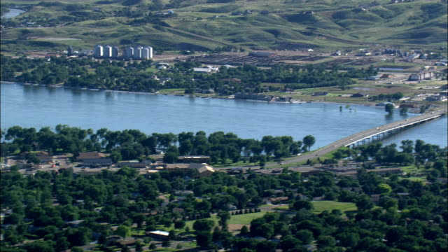 Missouri flooding - Aerial View - South Dakota, Hughes County, United States