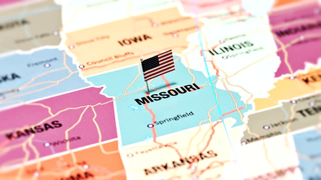vídeos de stock e filmes b-roll de missouri from usa states - missouri