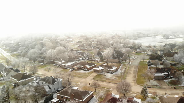 missouri ice storm residential development and street images 4k video series - missouri stock videos & royalty-free footage