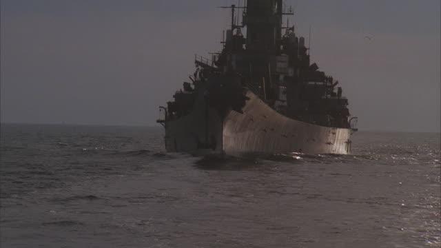 ms, shaky, uss missouri on sea - uss missouri stock videos and b-roll footage