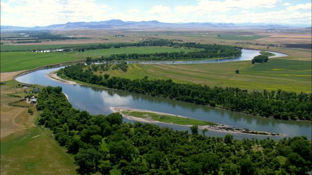Missouri River-Luftaufnahme-Montana, Cascade County, Vereinigte Staaten