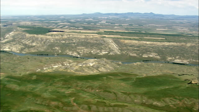 Missouri River  - Aerial View - Montana, Fergus County, United States