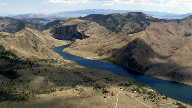 Missouri River - Aerial View - Montana, Lewis and Clark County, United States