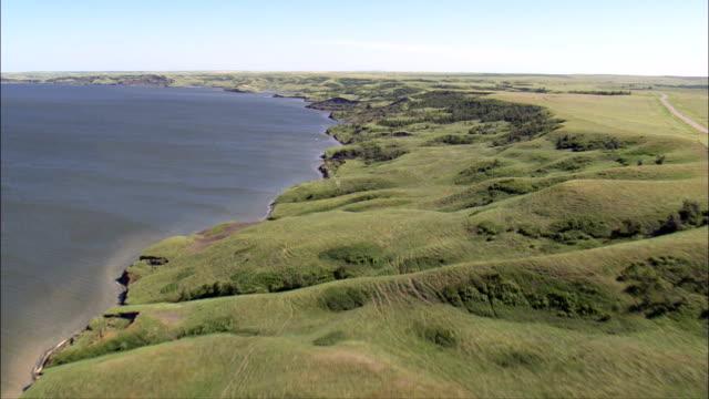 Missouri River - Aerial View - South Dakota, Corson County, United States