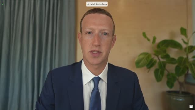 missouri senator josh hawley asks facebook founder mark zuckerberg at a senate judiciary committee hearing on online suppression about internal tool... - corporate business stock videos & royalty-free footage