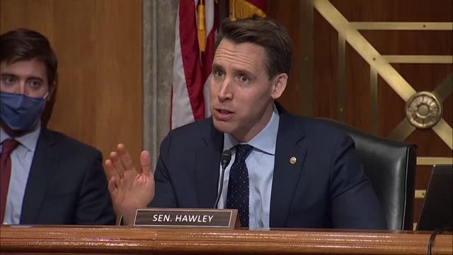 missouri senator josh hawley says at a security and governmental affairs committee hearing on 2020 election irregularities that he was talking with... - president stock videos & royalty-free footage
