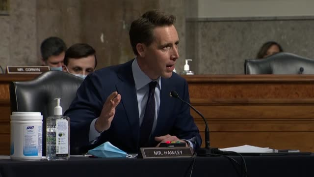 missouri senator josh hawley says at a senate judiciary committee hearing in review of the fbi crossfire hurricane investigation after questioning... - attorney general stock videos & royalty-free footage