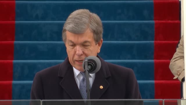 missouri senator roy blunt refers to the inauguration of thomas jefferson calling it perhaps the first time in history that one group willingly... - thomas jefferson stock-videos und b-roll-filmmaterial