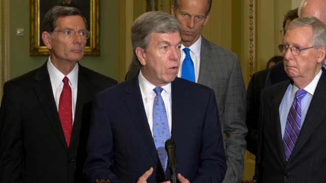 missouri senator roy blunt tells reporters at a weekly briefing that the duck boat that failed and killed 17 people did not work due to an unusual... - occurrence stock videos & royalty-free footage