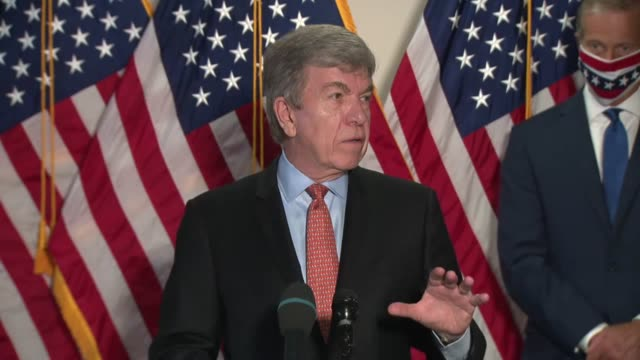 missouri senator roy blunt tells reporters at a weekly news conference that the white house or national institutes of health were to announce the... - verification stock videos & royalty-free footage