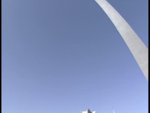ms, tu, la, usa, missouri, st. louis, gateway arch - jefferson national expansion memorial park stock videos & royalty-free footage