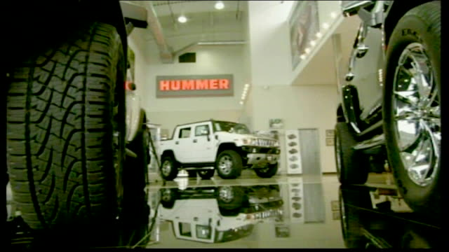 missouri st louis int hummer vehicles on display in car dealer showroom ext rows of unsold hummer vehicles - hummer stock videos and b-roll footage