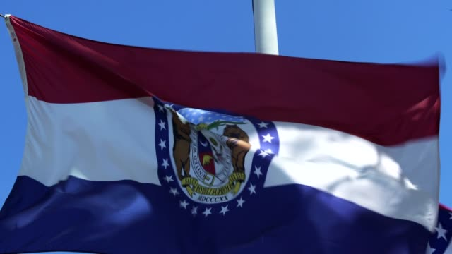 Missouri State Flag Waving in the Breeze