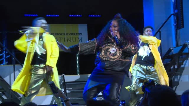 performance missy elliott at american express and pharrell williams host the yellow ball at the brooklyn museum in support of arts education... - performance stock videos & royalty-free footage