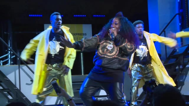 missy elliott at american express and pharrell williams host the yellow ball at the brooklyn museum in support of arts education nationwide - performing arts event stock videos & royalty-free footage