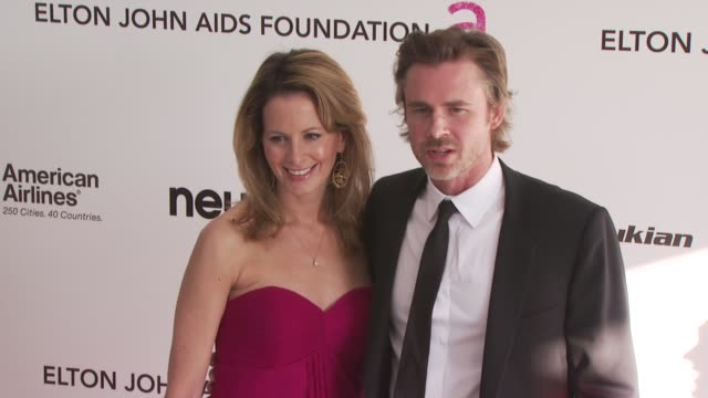 missy yager and sam trammell at the 18th annual elton john aids foundation oscar party at west hollywood ca. - sam west stock videos & royalty-free footage