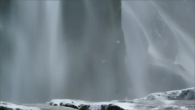 mist at base of waterfall - californian sierra nevada stock videos & royalty-free footage