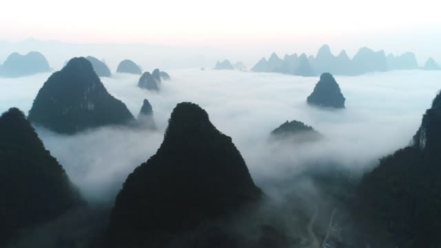 mist lijiang - guilin stock videos & royalty-free footage
