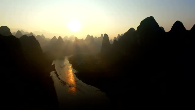 霧麗江 - スネーク川点の映像素材/bロール