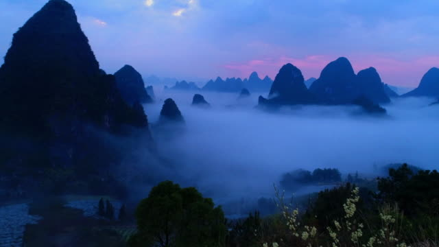 mist lijiang - yunnan province stock videos and b-roll footage