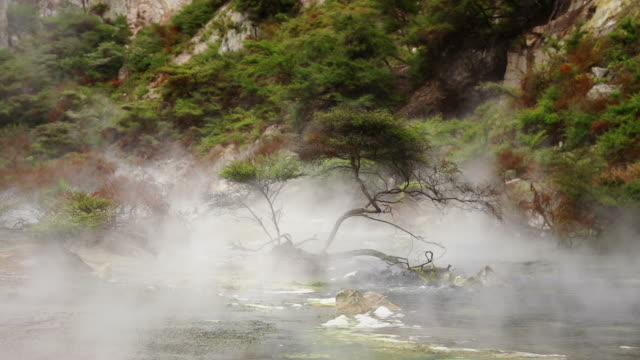 SLOW MOTION: Mist over Stream