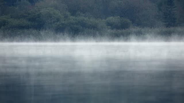 t/l mist rising above lake hallstatt 3 - アッパーオーストリア点の映像素材/bロール