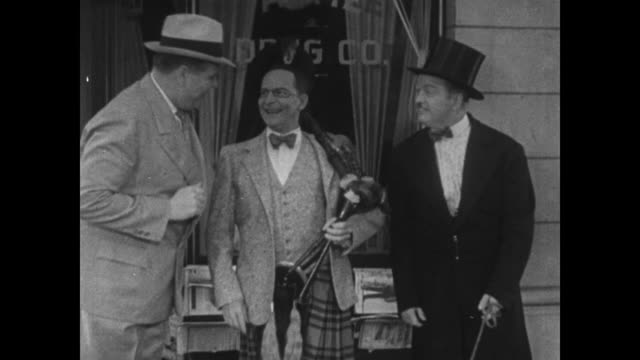 1934 mistaken man invites another to his home thinking him a scottish laird - 1934 stock videos & royalty-free footage