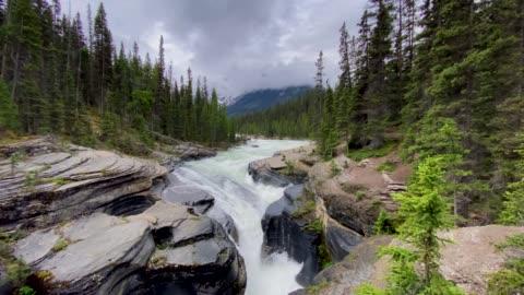 mistaya river and canyon, banff nationalpark, alberta, kanada - banff nationalpark stock-videos und b-roll-filmmaterial