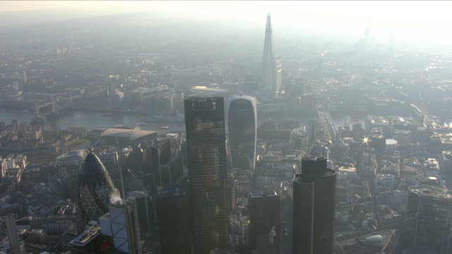 misty city of london - geographical locations stock videos & royalty-free footage