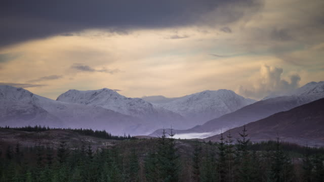 misty highland valley - time lapse - scottish highlands stock videos and b-roll footage