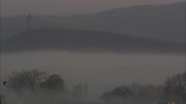b/w, ws, misty landscape, scotland, united kingdom - tonad bild bildbanksvideor och videomaterial från bakom kulisserna