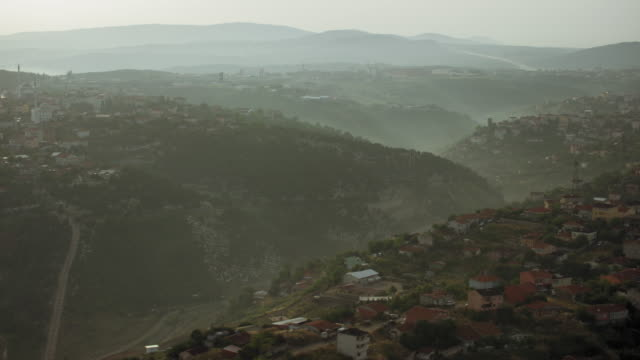 Misty Landscape With Hills In Istanbul