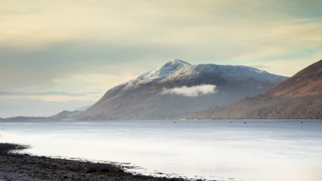 misty loch linnhe time lapse - scottish highlands stock videos and b-roll footage