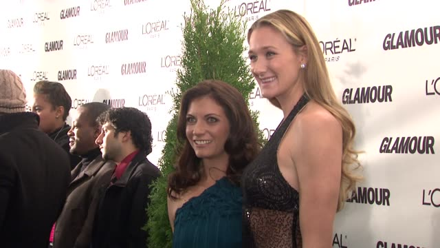 misty maytreanor and kerry walsh at the glamour magazine honors the 2008 women of the year at new york ny - kerri walsh jennings stock videos and b-roll footage