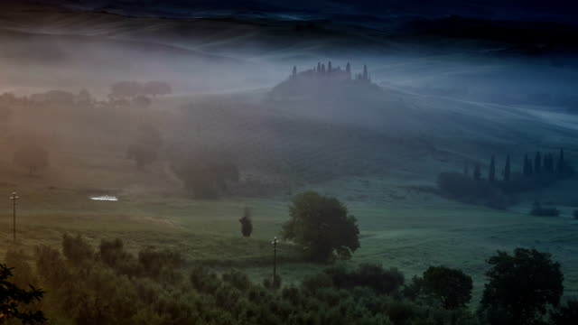 misty tuscany - tuscany stock videos and b-roll footage