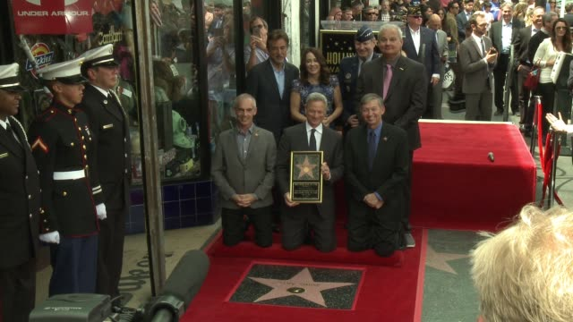 Mitch O'Farrell Gary Sinise Leron Gubler Joe Mantegna Patricia Heaton General Robin Rand at Gary Sinise Honored With Star on The Hollywood Walk Of...