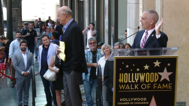 mitch o'farrell on jeffrey tambor at the jeffrey tambor star on the hollywood walk of fame on august 8, 2017 in hollywood, california. - jeffrey tambor stock videos & royalty-free footage