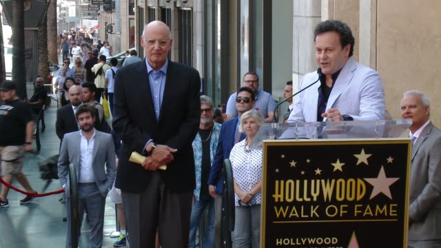mitchell hurwitz on jeffrey tambor at the jeffrey tambor star on the hollywood walk of fame on august 8, 2017 in hollywood, california. - jeffrey tambor stock videos & royalty-free footage