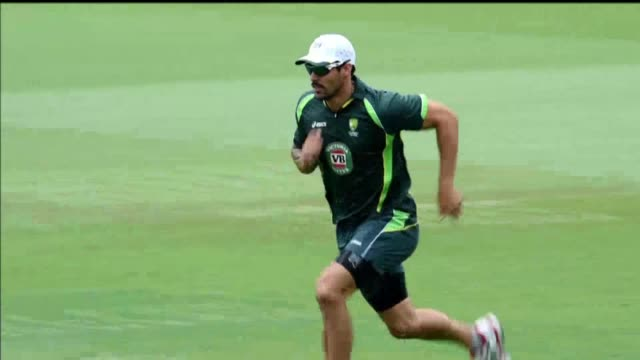 mitchell johnson announces his retirement from all international cricket at the end of the ongoing test against new zealand - test cricket stock videos & royalty-free footage