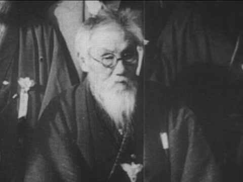 mitsuru toyama speaking to the followers - samurai stock videos & royalty-free footage