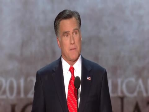 mitt romney says he wants america to succeed at republican convention - republikanischer parteitag stock-videos und b-roll-filmmaterial