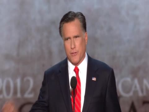 mitt romney talks about the future at the republican convention - republikanischer parteitag stock-videos und b-roll-filmmaterial