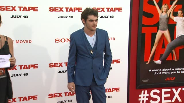 rj mitte at the sex tape los angeles premiere at regency village theatre on july 10 2014 in westwood california - regency village theater stock videos & royalty-free footage