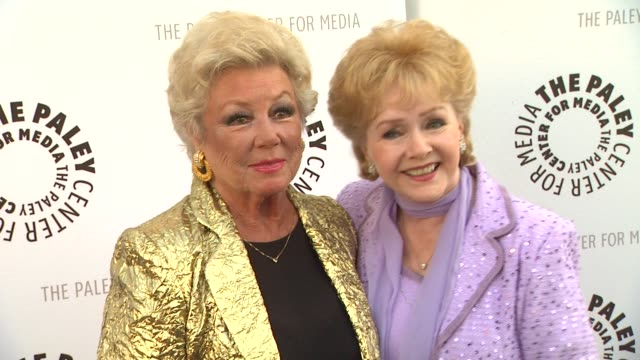 mitzi gaynor and debbie reynolds at the the paley center for media presents a special premiere viewing & reception, 'debbie reynolds: the exhibit' at... - debbie reynolds stock-videos und b-roll-filmmaterial