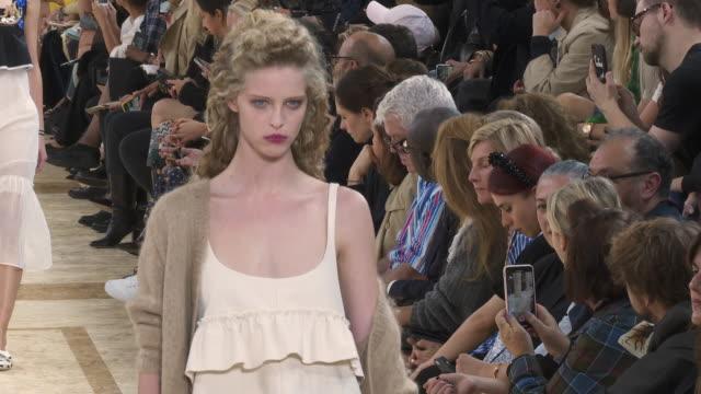 miu-miu ss20 runway at paris fashion week on october 1, 2019 in paris, france. - paris fashion week stock videos & royalty-free footage